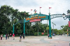Hongkong Disneyland stock foto's