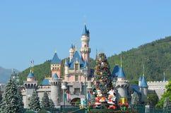 2017 Hongkong Disneyland kurortu kasztel Fotografia Royalty Free
