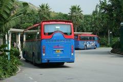 Hongkong disneyland shuttle bus. Service hotel and park Stock Image