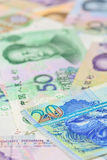 Hongkong  dollar and chinese Yuan bank notes , for money concept Stock Image