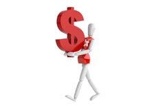 Hongkong dollas waluty biały człowiek Zdjęcia Stock