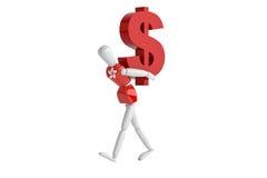 Hongkong dollas waluty biały człowiek Obraz Stock