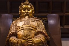 HONGKONG - Feburary 27 th 2016: Che Kung God staty royaltyfria foton