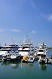 Hongkong gold coast harbor yachts Stock Photography