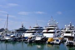 Hongkong gold coast yachts Royalty Free Stock Image