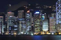 The Hongkong habor at night Royalty Free Stock Images