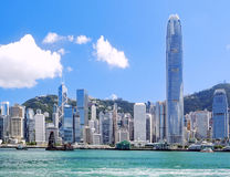 HongKong Harbour. City at day stock photography