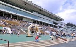 Hongkong horse racing club field and building Royalty Free Stock Photos