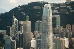 Hongkong IFC building. Center of hongkong IFC building Royalty Free Stock Image