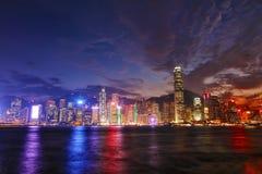Hongkong Island CBD Stock Photo