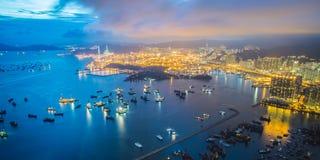 Hongkong island harbour in China Royalty Free Stock Image