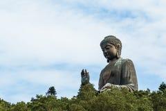 HONGKONG - Juli 7 th 2017: Tian Tan Buddha stora Budda Royaltyfri Foto
