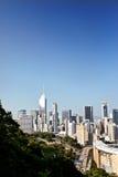 HONGKONG KINA: flyg- sikt av Hong Kong royaltyfri bild