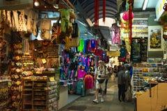 HONGKONG KINA - November 01, 2017 Stanley Market en berömd turist- destination i Hong Kong royaltyfri bild