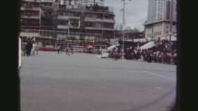 Scouts Standing At Attention. HONGKONG, KOWLOON, MAY 1978. Two Shot Sequence Of Many Scouts Standing At Attention While Being Inspected By Officials Of The Scout stock footage