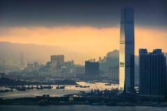 HongKong and Kowloon at sunset Royalty Free Stock Photos