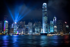 Hongkong Lightshow Stock Foto's