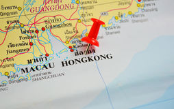 Hongkong map Royalty Free Stock Image