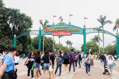 Entrances to Hong Kong Disneyland Resort on 30 March, 2019 royalty free stock photos