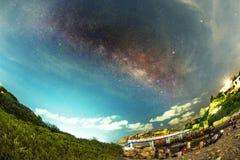 HongKong Milky Way. HongKong Shek O Milky Way galaxy Royalty Free Stock Photo