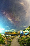 HongKong Milky Way. HongKong Shek O Milky Way galaxy Royalty Free Stock Images