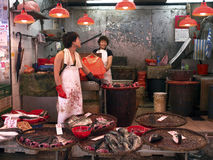 Hongkong mongkok wet market fishmongers Stock Photo