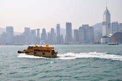 Hongkong in morningï ¼ ŒThe Victoria Harbour van het centrum ¼ Œfinancial China asiaï ¼ Œin van Hongkong ï morningï ¼ Œ Stock Fotografie