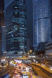 Hongkong at night. Rush hour in hongkong at night Stock Photo
