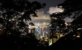Hongkong at night Stock Photography