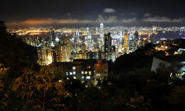 Hongkong at night Stock Photos