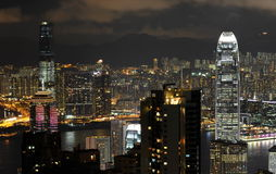 Hongkong at night Royalty Free Stock Photography