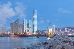 Hongkong night Stock Photos