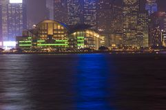 Hongkong - night cityscape Stock Images
