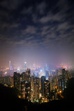 Hongkong night. From the peak stock images