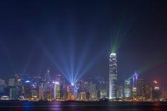 Hongkong night view. At skyline Stock Image