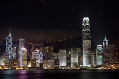 hongkong noc Obraz Royalty Free