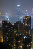 Hongkong noc Fotografia Royalty Free