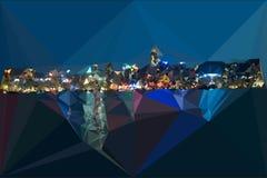 Hongkong nocy schronienia abstrakcjonistycznych trójboków nowożytny widok Obraz Royalty Free
