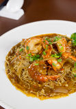 Hongkong noodle shrimp prawn Stock Photos