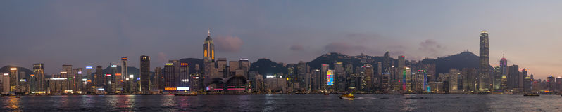 Hongkong Panorama. Take Hongkong Panorama from Kowloon in Evening. To see the beauty in it royalty free stock images