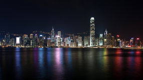 Hongkong panorama. Panorama of Victoria Harbour in Hongkong royalty free stock image