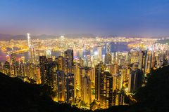 Hongkong from the peak Stock Image