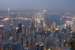 HongKong the peak. Victoria bay Royalty Free Stock Photos
