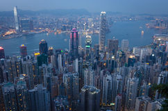 HongKong the peak. View from hongkong the peak Royalty Free Stock Photography