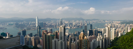 HongKong the peak. View from the peak in hongkong island Royalty Free Stock Images