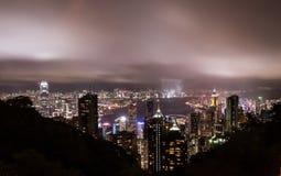 Hongkong The peak. View night and city light Stock Photo