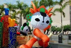 Hongkong: Peking 2008 Olympics Mascottes royalty-vrije stock foto