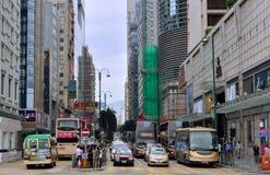 Hongkong reklamy centrum ruch drogowy Zdjęcia Stock
