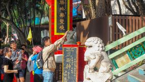 Hongkong The Repulse Bay- December 10, 2016: Cai Shen the Chinese God of Wealth and prosperity. Cai Shen`s name is often invoked. During the Chinese New Year royalty free stock image