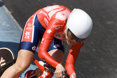 Hongkong Rider at Asian Cycling Championships 2012 Royalty Free Stock Photo